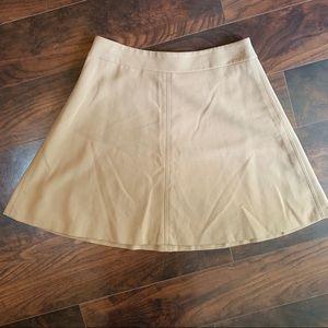 LOFT | A line camel skirt